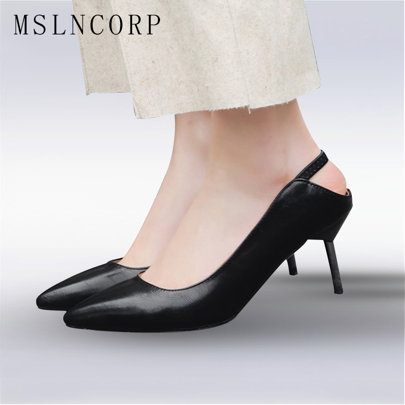 Plus Size 34-43 New Women Pointed Toe Sandals Party Fashion Sexy High Heels Shoes Wedding Pump Dress Office Lady Stiletto Pumps