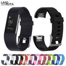 цена на Sport Silicone Loop for Fitbit Charge 2 Band Strap Women Men Smart Watch Bracelet with Metal Clasp Classic  Bands For Charge2