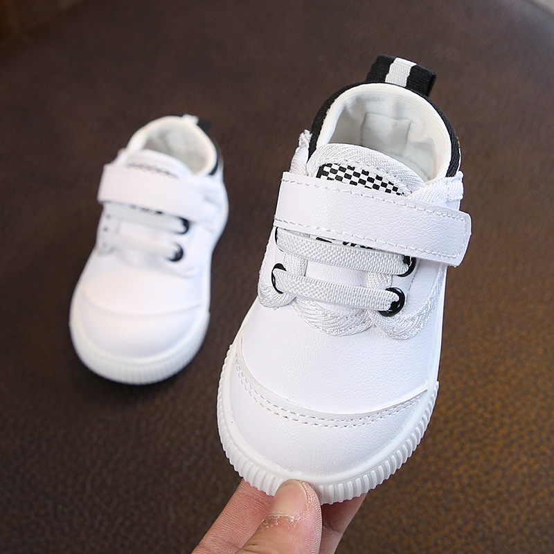Toddler Baby First Walker Shoes 1Pair Beginner Infant Baby Boy Girl Shoes Soft-soled Antiskid Male And Female Babies White Shoes