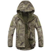 Lurker Shark Skin Softshell V4 Military Tactical Jacket Men Waterproof Windproof Warm Coat Camouflage Hooded Camo