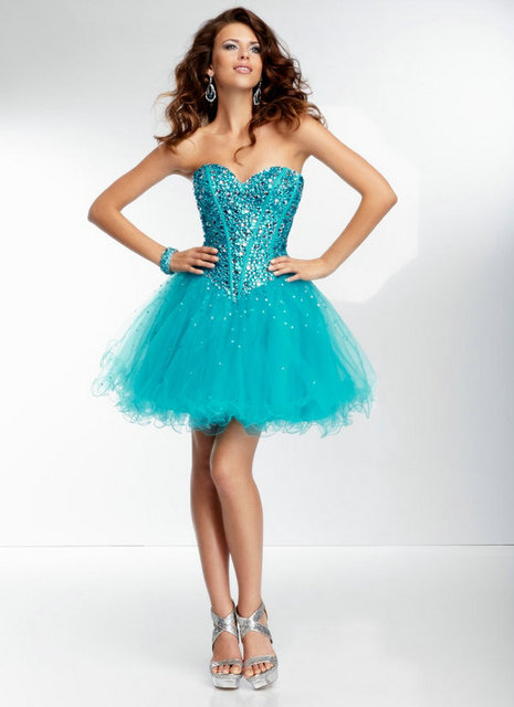 Tulle with Tonal Beading Plum and Turquoise Short Prom Dress Ball ...