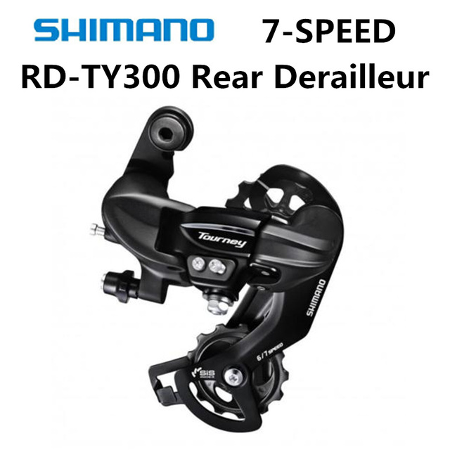 US $5 99 25% OFF|SHIMANO TOURNEY RD TY300 Rear Derailleurs Mountain Bike  TY300 Derailleurs 7 Speed 21 Speed -in Bicycle Derailleur from Sports &