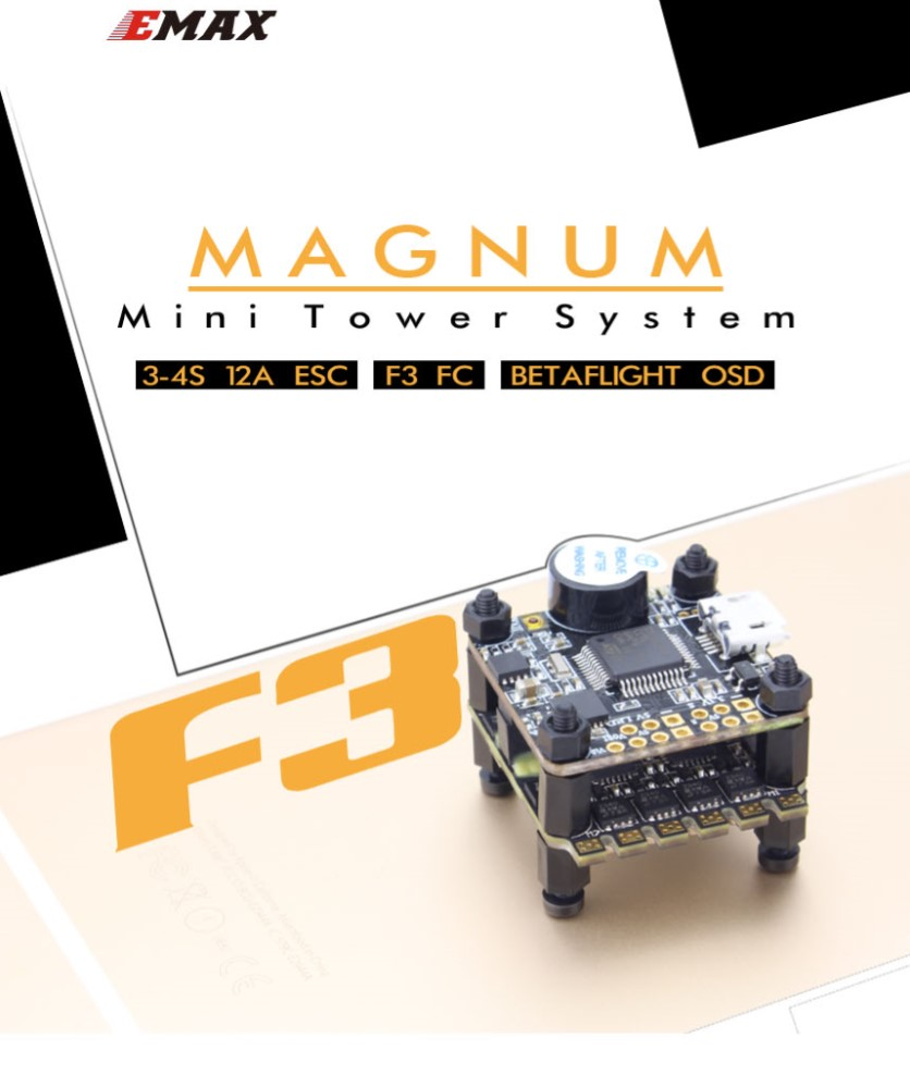 Emax F3 Magnum Mini FPV Stack Tower System Flight Controller 4in1 Esc All in One For Micro FPV Racing Quadcopter drone with camera rc plane qav 250 carbon frame f3 flight controller emax rs2205 2300kv motor fiber mini quadcopter
