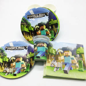 60pcs/lot set birthday party decorations Minecraft napkins