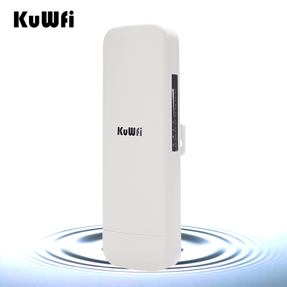Image 3 - KuWfi 900Mbps Wireless CPE Router Outdoor Wireless Bridge Long Range 3.5KM WIFI Repeater WIFI Extender System for IP Camera POE