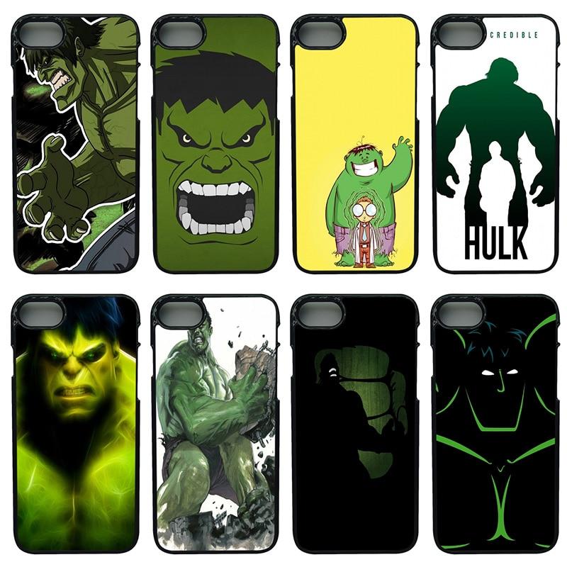 Marvel Superhero Hulk Slim Mobile Phone Case Hard PC Plastic Cover for iphone 8 7 6 6S PLUS X 5S 5C 5 SE iPod Touch 4 5 6 Shell