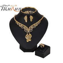 MUKUN Dubai gold color jewelry sets Nigerian wedding woman accessories jewelry set fashion African Beads jewelry set Wholesale mukun nigerian wedding woman accessories jewelry set fashion african bead jewelry set brand dubai big gold color jewelry sets