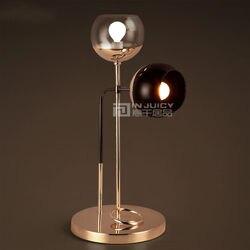 Nordic LED żelaza szkło sypialnia Eyesafe stół biurko lampy światła oświetlenie prezent Cafe Bar Decor