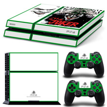 Fashion Decal Cover For Sony PS4 Slim Console Sticker With Controllers Vinyl Skin Stickers PS 4 S Accessories joker