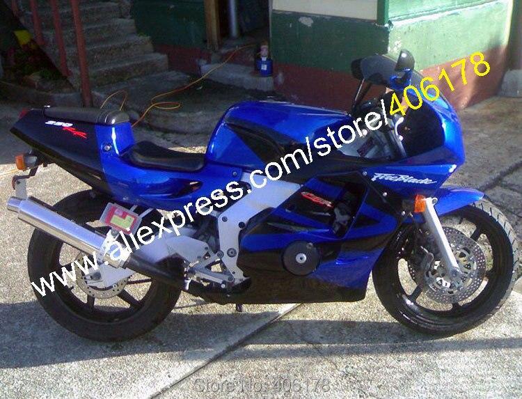 Hot Sales,For Honda CBR250RR MC22 1990 1991 1992 1993 1994 MC 22 90-94 CBR 250 RR Blue Black Fairing Kit (Injection molding)