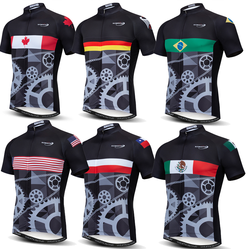 Weimostar Cycling Jersey 2019 Pro Team Canada Chile Italy Mexico Racing Sport mtb Bike Jersey Ropa Ciclismo Top Bicycle Clothing