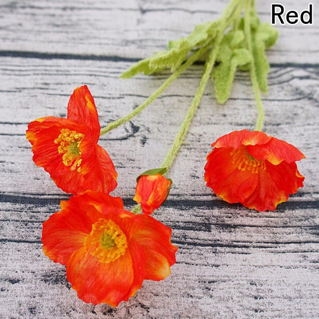 Latest coming beautiful artificial poppy silk flowers home wedding latest coming beautiful artificial poppy silk flowers home wedding decoration gift 1 pcs mightylinksfo