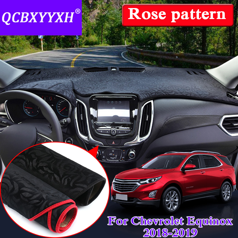 Car Styling Anti slip Mat For Chevrolet Equinox 2018 2019 LHD Rose Pattern Dashboard Mat Protective