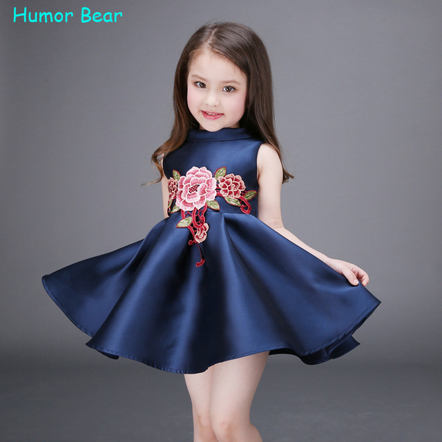 bb4957fed Humor Bear NEW baby girls dress birthday party Flower Girl Christening  Wedding Party Pageant Dress kids