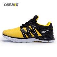 ONEMIX мужские кроссовки кожаные туфли Светоотражающие мужской спортивной обуви спорт на открытом воздухе легкие кроссовки для бега US6.5 11