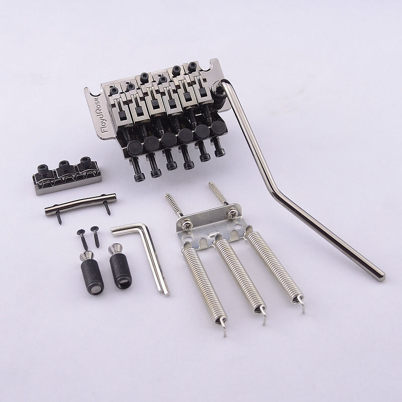 Genuine Original Floyd Rose 1000 Series  Tremolo System Bridge FRT05000 Black Nickel ( without original package ) MADE IN KOREA genuine original floyd rose 5000 series electric guitar tremolo system bridge frt05000 black nickel cosmo without packaging
