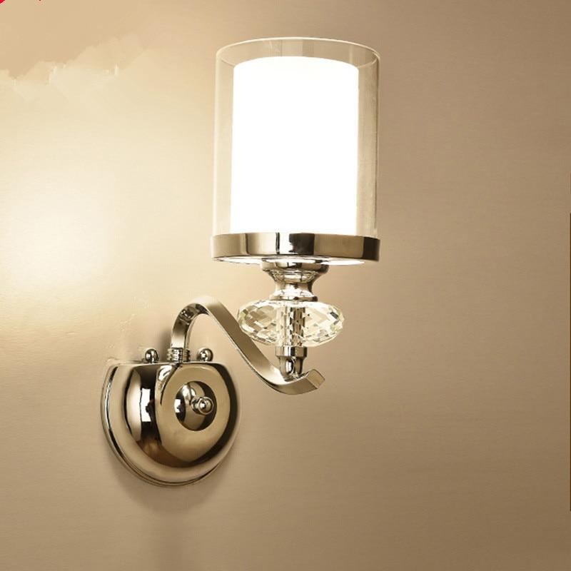 Led-lampen Wand Leuchte Kristall Wand Licht Einfache Warme Schlafzimmer Nacht Wand Lampe Kristall Lichter Eisen Kristall 2019 Offiziell