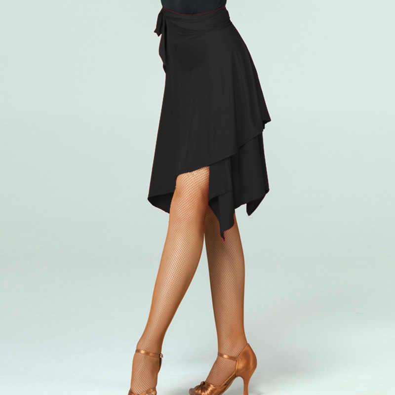 Латинское танцевальное платье красный/черный стандартная юбка ча/Румба/Самба/платья для танго для занятий танцами/перформамnce танцевальная одежда
