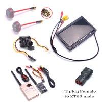 700TVL Camera 7 inch LCD 1024 x 600 Monitor NO Blue FPV 5.8G TS832 Transmitter RC832 RC832H Receiver 600mW 48CH Fatshark Antenna