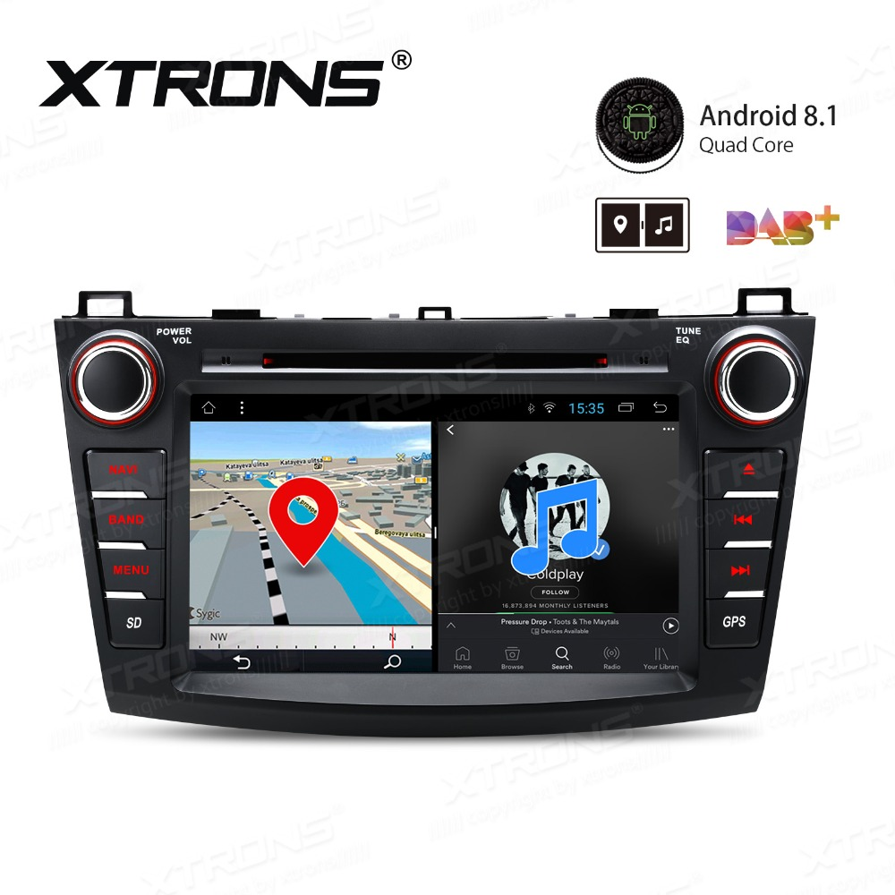 8'' inch Android 8.1 Car DVD Player for <font><b>Mazda</b></font> <font><b>3</b></font> 2010 2011 2012 <font><b>2013</b></font> Head Unit 2 Din GPS Navigation Stereo <font><b>Radio</b></font> WIFI TPMS image