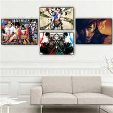 Custom Canvas Poster -one-piece-sabo- Printing Posters Cloth Fabric Wall Art Pictures For Living Room Decor#18-12-05-H-02-107(China)
