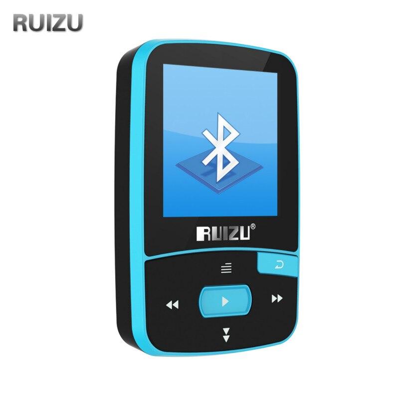 RUIZU X50 Bluetooth Sport MP3 musik-player FM Radio Recorder Supprot SD karte Clip mp3-player Bluetooth 8 GB PK RUIZU X06 X18 X26