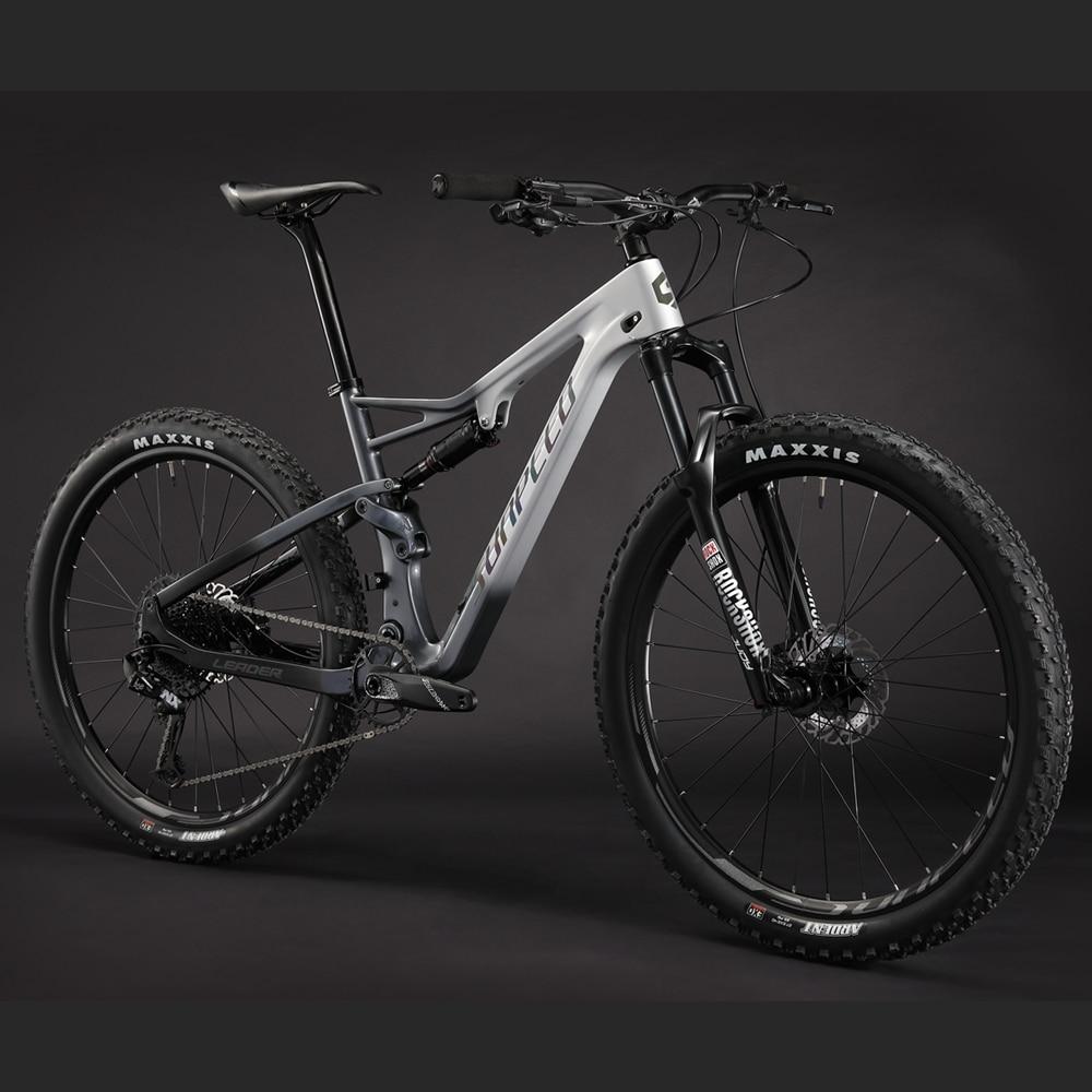 SUNPEED VTT Cadre En Carbone 29er Suspension Complète Carbone Mountian cadre de vélo 142*12mm Plein Cadre de Suspension