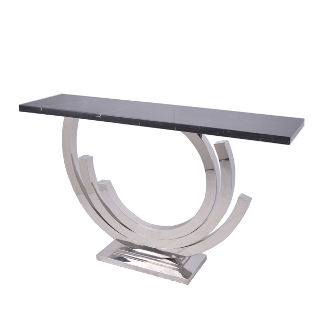 LEETIN Modern Minimalist Stainless Steel Console Table Cabinet Marble Foyer  Entrance Station A Few Decorative Furniture