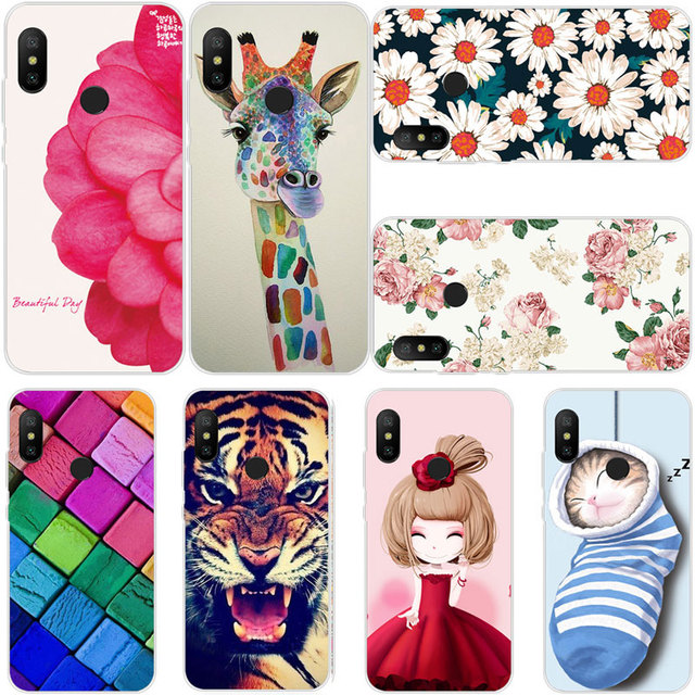 size 40 01b25 9176b US $1.89 5% OFF|Silicone Case For Xiaomi Mi A2 A 2 Lite Case Red Flower  Animal Soft TPU Cover For Xiaomi Mi A2 Lite Global Version MiA2Lite Case-in  ...