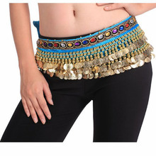 2016 Cheap Belly Dance Hip Belts Belly Dancing Coin Scarves for Women on Sale 14 colors available