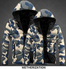 Men s winter Camouflage Outwear Jacket Lovers Thicken font b hoody b font Man hooded jackets