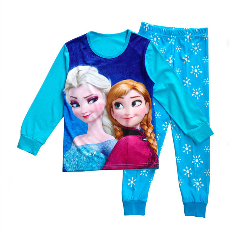 Funfeliz Anna Elsa Sleepwear for Girls Autumn Winter Girl Pajamas - Children's Clothing - Photo 3