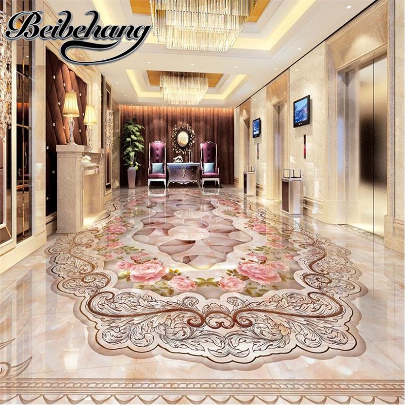 Decorative floor painting Custom self-adhesive 3D wallpaper living room floor for living room bamboo  3D floor wallpaper floor  beibehang wallpaper custom home decorative backgrounds powerful bear paintings living room office hotel mural 3d floor painting