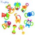 Coolplay 10 шт./лот детские погремушки детские игрушки 0-1 летний новорожденных прорезыватели для зубов ребенка рука погремушки комбинацию Бесплатная доставка