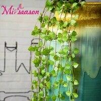 7 מזלגות מלאכותי עלים קטנים קש אייבי זר גרלנד צמח צמח תליית HQ Festival70cm קיר קישוט חתונה בבית