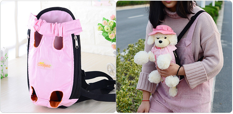 New Pink Carrying Bag for Dogs Small Cat Dog Carrier Travel Backpack Dog Bag Breathable Pet Bags Shoulder Pet Puppy panier chien