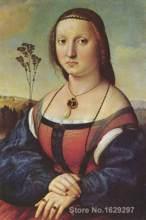 Ritratto di Maddalena Doni Raffaello sanzio famoso ritratto artista di Alta qualità dipinta A Mano