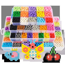 Multicolor puzzles beads toys magic DIY handmade water sticky bead set educational children gifts