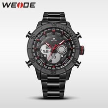 WEIDE new relogio automatico analog sport watch digital led clock stainless steel band strap quartz shockproof waterproof watch стоимость