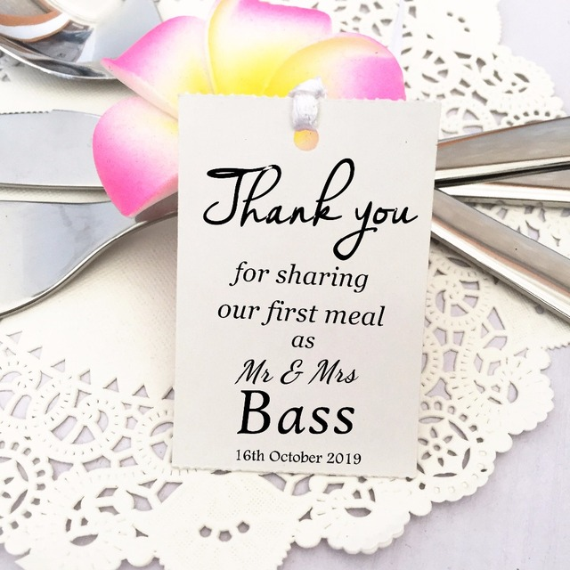 35 Kraft white Gift Tags Wedding Favour Bomboniere Personalised ...