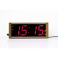 Large Display Electronic LED Alarm Clock with Temperate Date Metal Case Digital Wall Clock Desk Table Clock for Living Room