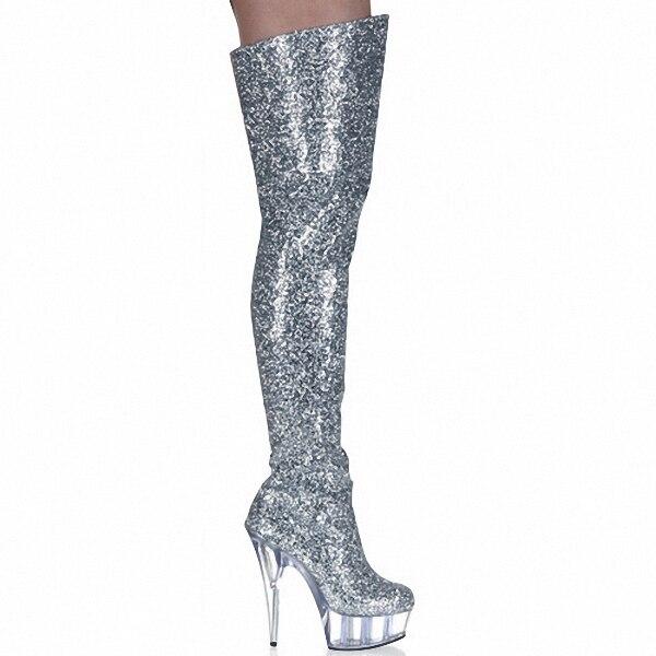 Popular Knee High Glitter Boots-Buy Cheap Knee High Glitter Boots ...