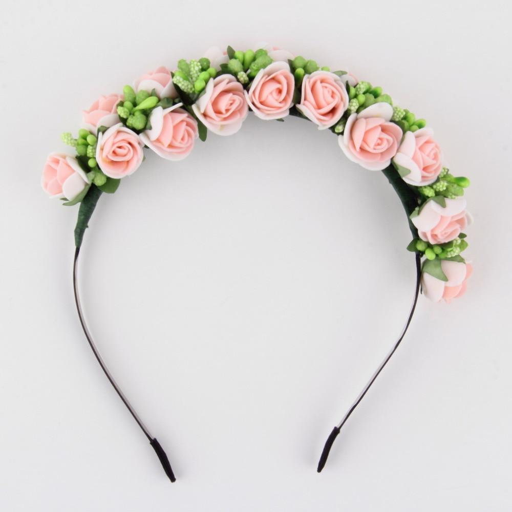 Ha hair accessories for sale - Stylish Women Girls Floral Headband Bohemia Hair Band Flower Garland Wedding Prom Head Wrap Hair Accessories