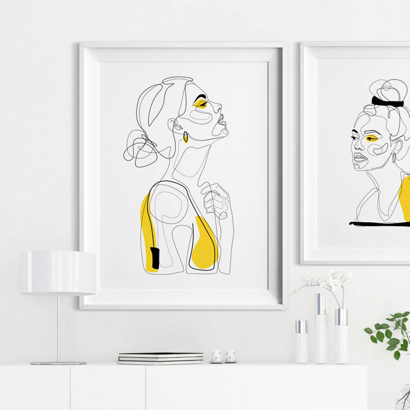 Minimalist Woman Art Print