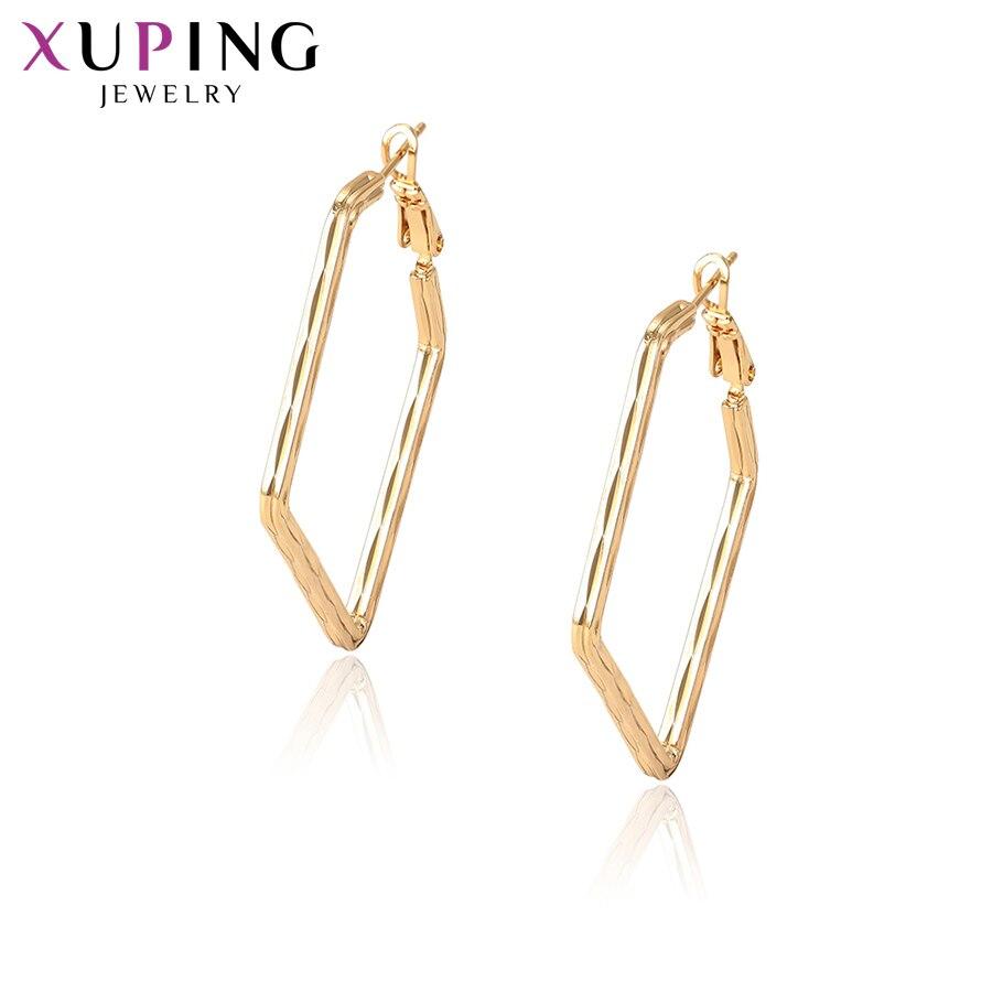 11,11 сделок Xuping элегантный обруч серьги золото-цвет для Для женщин популярные Дизайн украшения подарок на день матери S98.1-96815