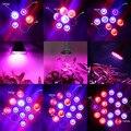 Full Spectrum E27 15 W 21 W 27 W 36 W 45 W 54 W cresce a luz LED lâmpada para plantas de floração e hidroponia sistema 85 - 265 V frete grátis