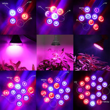 Full Spectrum E27 15W 21W 27W 36W 45W 54W LED Grow Light Lamp for Flowering Plant & Hydroponics System 85-265V Free Shipping