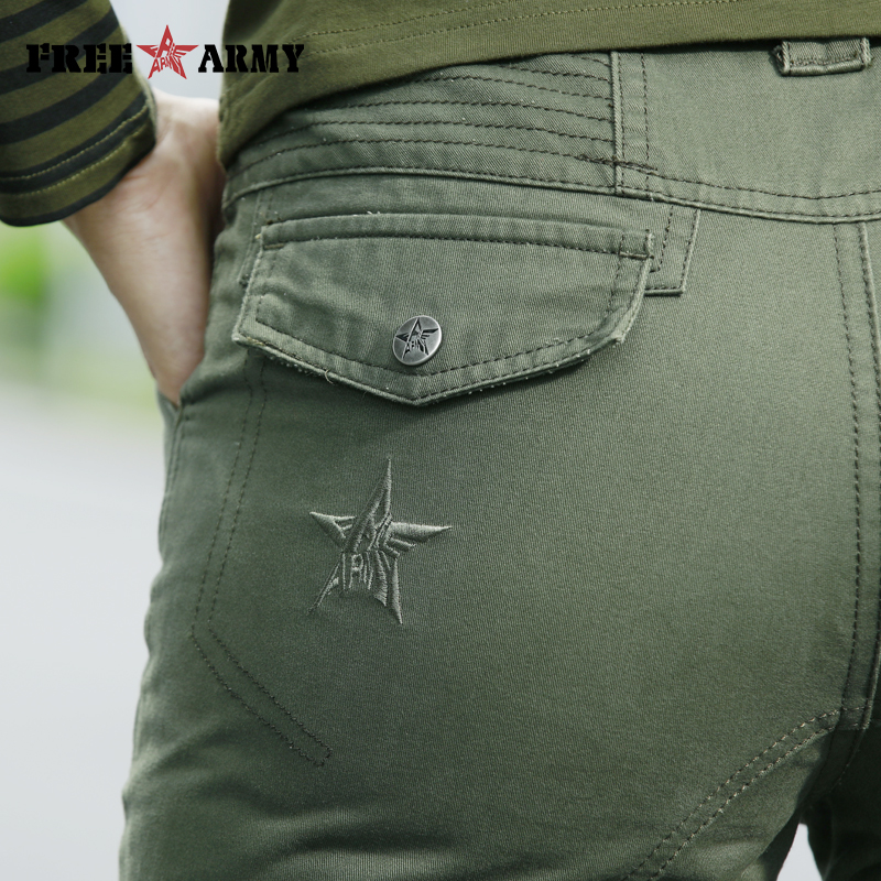 Image 5 - FreeArmy Brand Autumn Pants For Women Army Pants Military  Sweatpants Pockets Cargo Pants Straight Trousers Womens ClothingPants