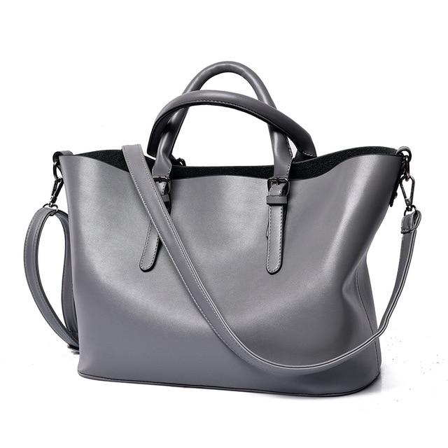 dcce84eac88 Bolso Mujer Negro Fashion Hobos Women Bag Ladies Brand Leather Handbags  Casual Tote Bag Big Shoulder Bags For Woman 1v10134