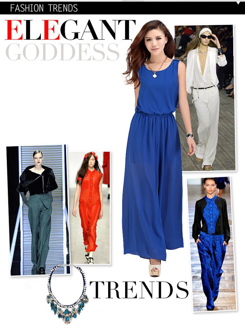 Chiffon Lace Jumpsuits mono mujer largo casual body suits for women combinaison pantalon femme elegante Wide leg pants 3